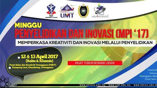 Minggu Penyelidikan dan Inovasi (MPI '17) @ Pusat Sains & Kreativiti Terengganu