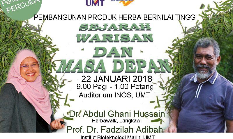 Pembangunan Produk Herba Bernilai Tinggi @ Auditorium INOS | Kuala Terengganu | Terengganu | Malaysia