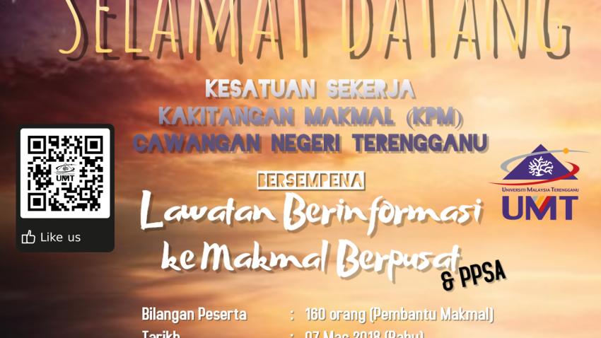 Lawatan Berinformasi ke Makmal Berpusat dan PPSA @ Universiti Malaysia Terengganu (UMT)