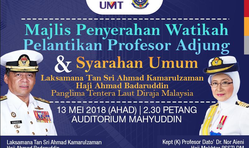 Majlis Penyerahan Watikah Profesor Adjung @ Auditorium Mahyuddin | Kuala Terengganu | Terengganu | Malaysia