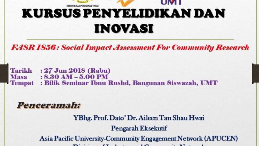 Kursus Penyelidikan dan Inovasi : FASR 1856 @ Kuala Terengganu | Terengganu | Malaysia
