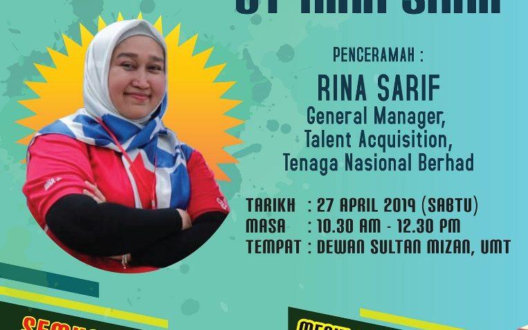 Career Talk By Rina Sarif @ Dewan Sultan Mizan