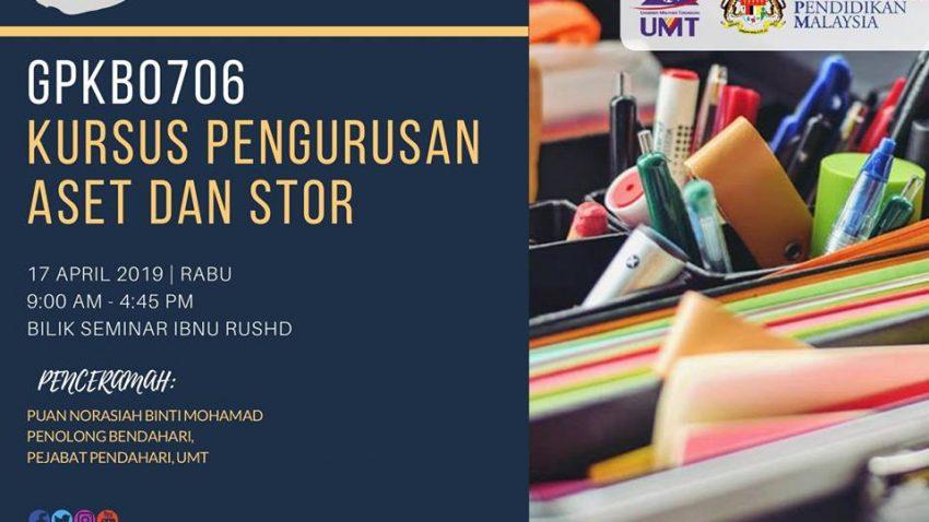 Gpkb0706 Kursus Pengurusan Aset Dan Stor @ Bilik Seminar Ibnu Rushd, Bangunan Siswazah, UMT