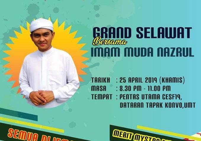 Majlis Grand Selawat bersama Imam Muda Nazrul @ Dataran Tapak Konvo UMT