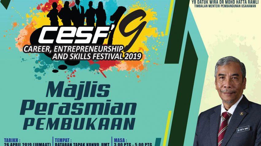 Majlis Perasmian Pembukaan Career Entrepreneurship And Skill (CESF'19) @ Tapak Pesta Konvo UMT