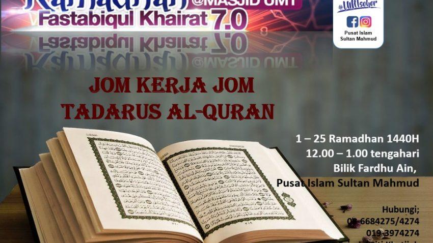 Jom Kerja Jom Tadarus (WANITA sahaja) @ Bilik Fardhu Ain, Pusat Islam Sultan Mahmud UMT