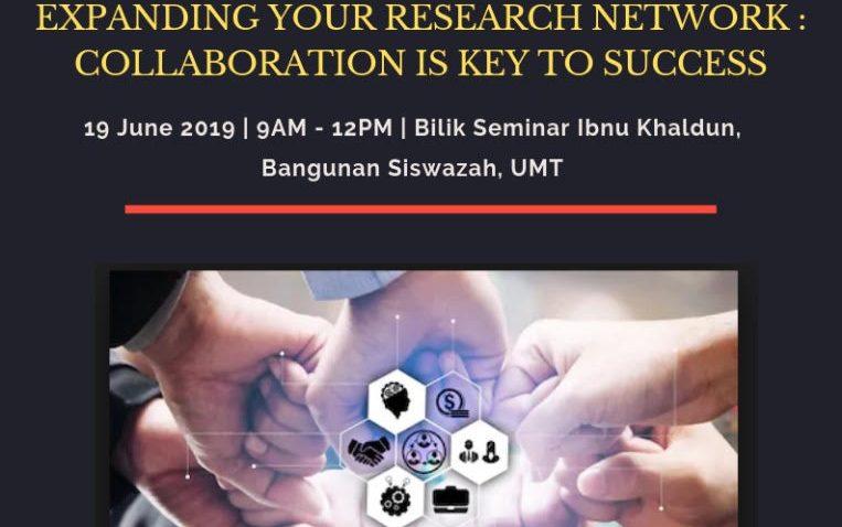 Kursus Penyelidikan Dan Inovasi : Fasr 1246 – Expanding Your  Research Network, Collaboration Is Key To  Success @ Bilik Seminar Ibnu Khaldun, Bangunan Siswazah, UMT