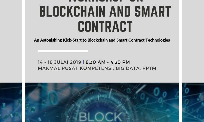Workshop On Blockchain And Smart Contract @ Makmal Pusat Kompetensi, Big Data PPTM
