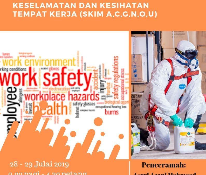 Kursus Pengenalan Kepada Perundangan Berkaitan Keselamatan Dan Kesihatan Tempat Kerja  (Skim A,C,G,N,O,U)