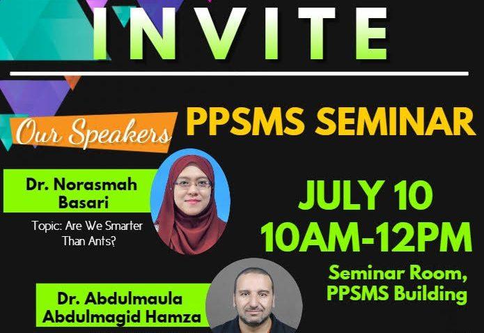 Seminar Bulanan PPSMS 2019 @ Bilik Seminar PPSMS