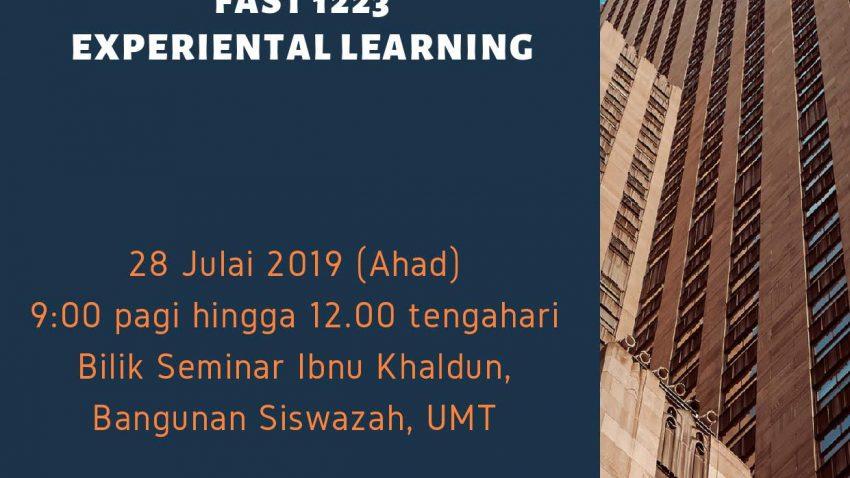 Kursus Pengajaran Dan Pembelajaran : FASR 1223-Experiental Learning @ Bilik Seminar Ibnu Khaldun, Bangunan Siswazah, UMT