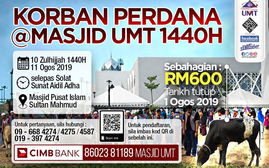 Korban Perdana Aidiladha 1440H Pusat Islam Sultan Mahmud UMT
