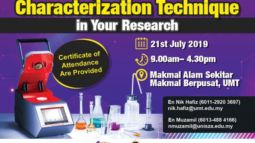 "Understanding Microwave And Particle Characterization Technique In Your Research"" @ Makmal Alam Sekitar, Makmal Berpusat UMT"