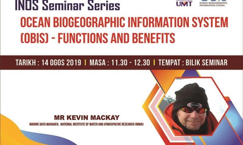 Syarahan Umum: Ocean Biogeographic Information System (OBIS) - Functions and Benefits' @ Bilik Seminar Inos