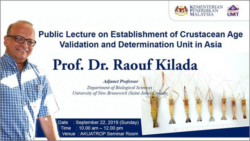 Public Lecture on Establishment of Crustacean Age Validation and Determination Unit in Asia @ Bilik Seminar Akuatrop