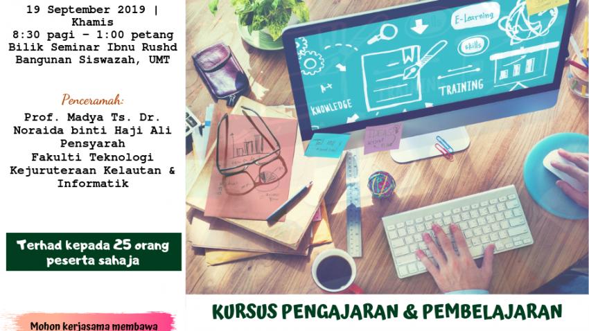 """Kursus Pengajaran Dan Pembelajaran : FAST1356 - """"Online Course Development"""" @ Bilik Seminar Ibnu Rushd, Bangunan Siswazah, UMT"""