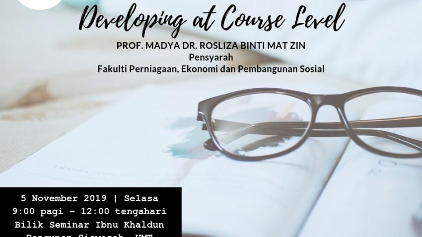 "Kursus Pengajaran Dan Pembelajaran : FAST1146 ""Developing At Course Level"" @ Bilik Seminar Ibnu Khaldun, Bangunan Siswazah, UMT"