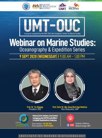 UMT-OUC Webinar on Marine Studies: Oceanography & Expedition Series @ Universiti Malaysia Terengganu