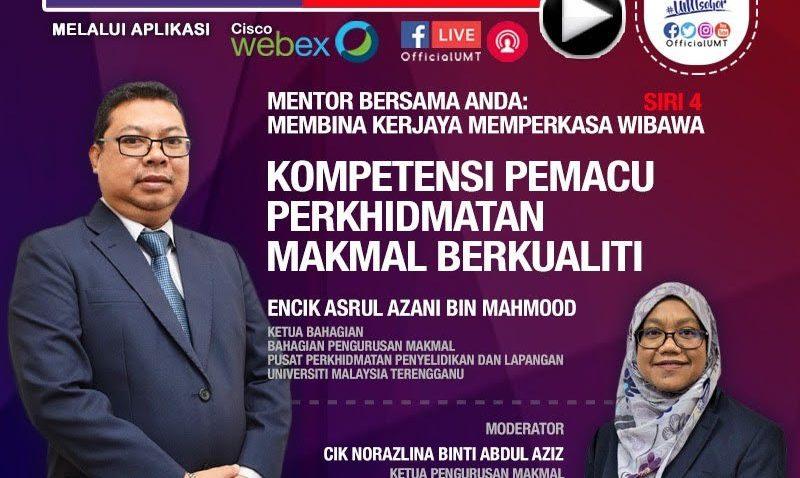 Mentor Bersama Anda: Kompetensi Pemacu Perkhidmatan Makmal Berkualiti @ Universiti Malaysia Terengganu