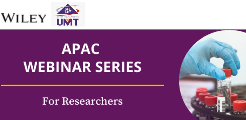 APAC Webinar Series: Diversity Drives Innovation: Representation in Research @ Universiti Malaysia Terengganu