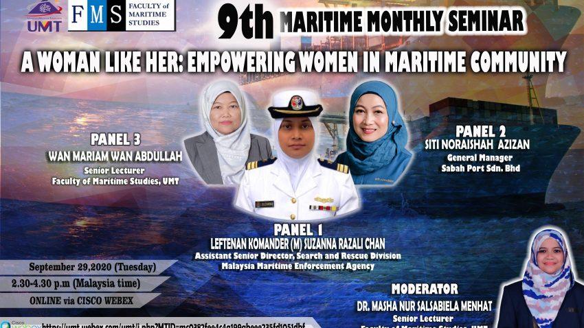 "9th Maritime Monthly Seminar: ""A Woman Like Her: Empowering Women In Maritime Community"" @ Universiti Malaysia Terengganu"
