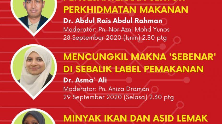 Seminar Bulanan FPSM Bagi Bulan Sept 2020: Foodcare Webinar Siri 1 2020 @ Universiti Malaysia Terengganu