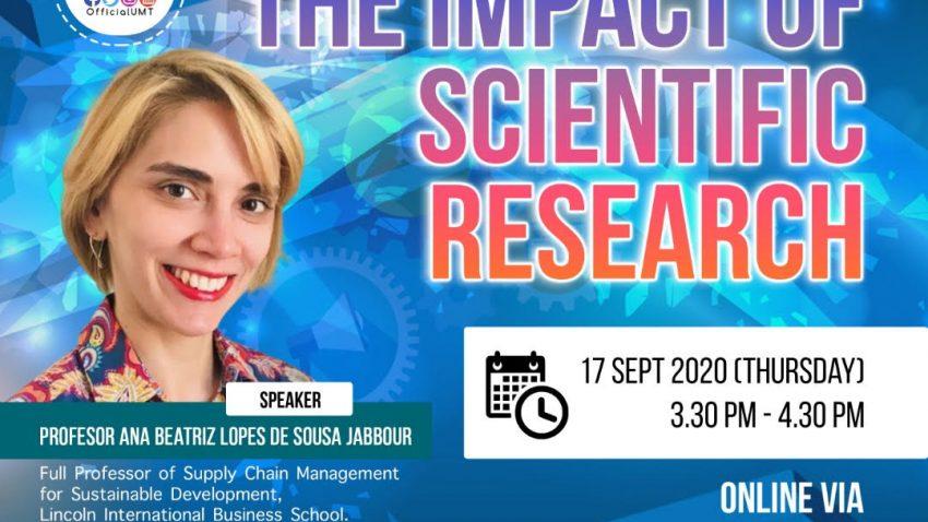 "Webinar on ""The Impact Of Scientific Research"" @ Universiti Malaysia Terengganu"