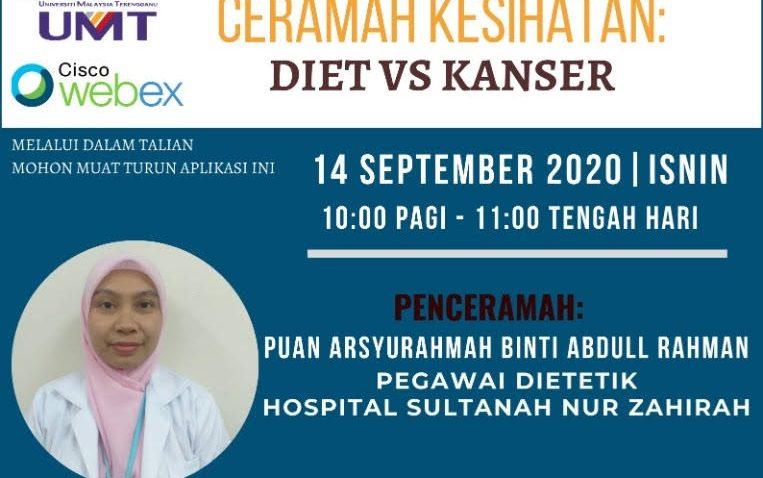 Ceramah Kesihatan: Diet Vs Kanser @ Universiti Malaysia Terengganu