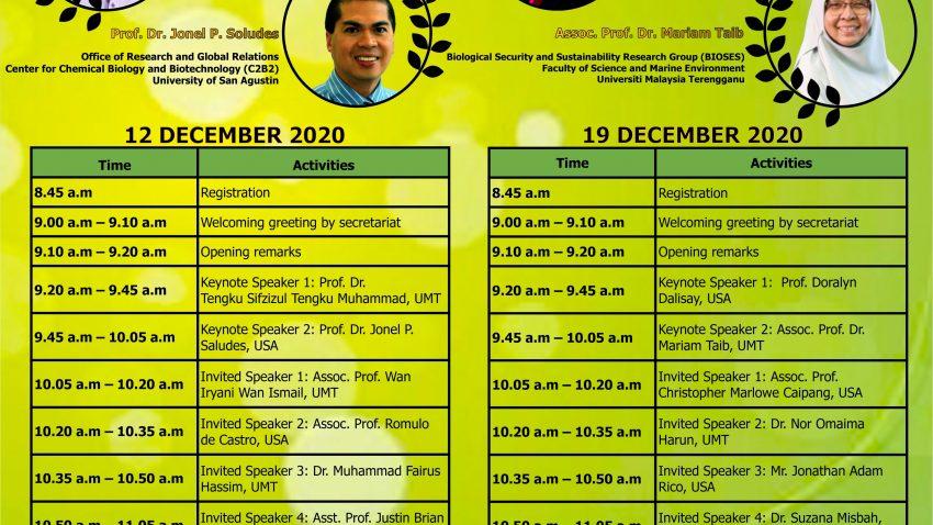 UMT and USA Webinar On Life Sciences 2020 @ Universiti Malaysia Terengganu