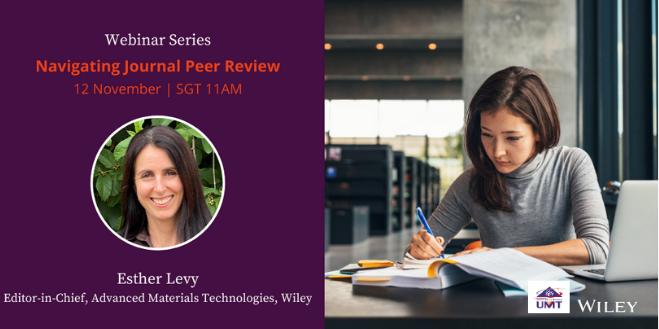 Webinar Series: Navigating Journal Peer Review: A Guide for Authors and Reviewers @ Universiti Malaysia Terengganu