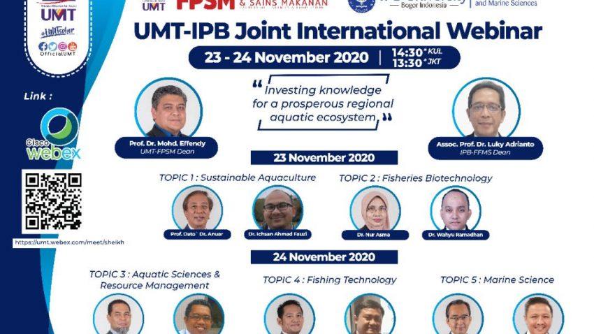 SEMINAR ANTARABANGSA: UMT-IPB JOINT INTERNATIONAL WEBINAR @ Universiti Malaysia Terengganu