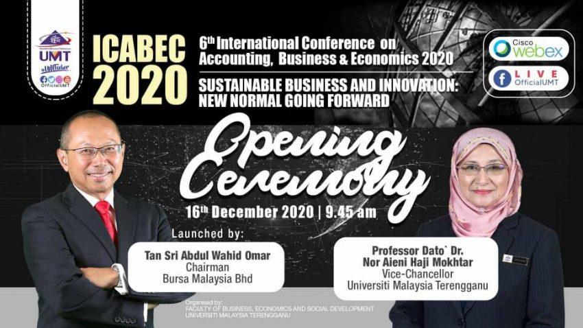 ICABEC 2020 – Opening Ceremony @ Universiti Malaysia Terengganu