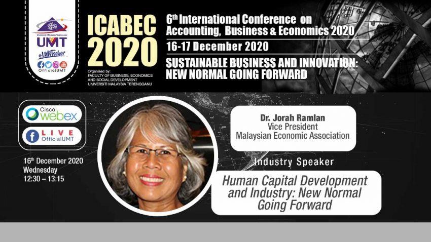 ICABEC 2020 – Human Capital Development and Industry : New Normal Going Forward @ Universiti Malaysia Terengganu