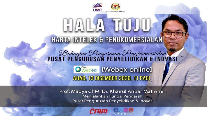TAKLIMAT HALA TUJU SEKSYEN PENGKOMERSIALAN, PUSAT PENGURUSAN PENYELIDIKAN DAN INOVASI (CRIM) @ Universiti Malaysia Terengganu