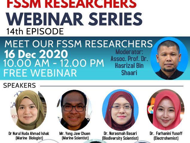 SEMBANG SANTAI : GET TO KNOW FSSM RESEARCHERS 14TH WEBINAR SERIES @ Universiti Malaysia Terengganu