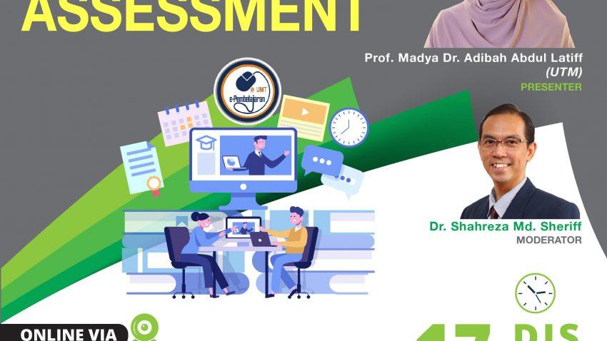 LATIHAN PENGAJARAN DAN PEMBELAJARAN : 'EVALUATING YOUR ASSESSMENTS' @ Universiti Malaysia Terengganu