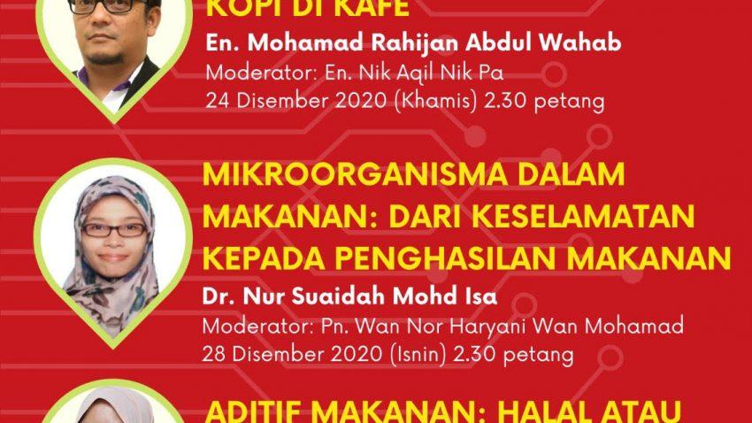 FOODCARE WEBINAR: MIKROORGANISMA DALAM MAKANAN; DARI KESELAMATAN KEPADA PENGHASILAN MAKANAN @ Universiti Malaysia Terengganu