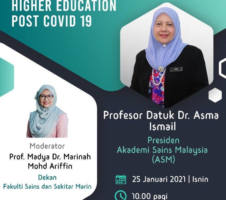 WACANA KEPIMPINAN SIRI 1 BERSAMA PROFESSOR DATUK DR. ASMA ISMAIL, FASC PRESIDEN AKADEMI SAINS MALAYSIA