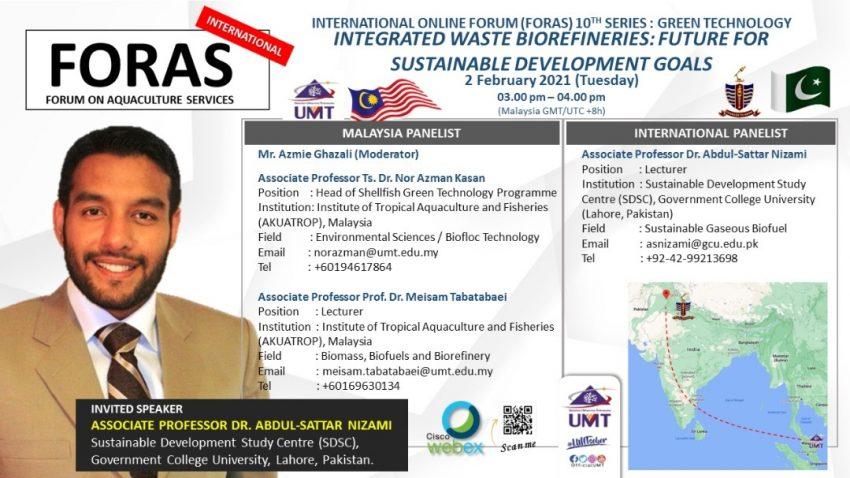 International Forum on Aquaculture Services (FORAS) @ Universiti Malaysia Terengganu