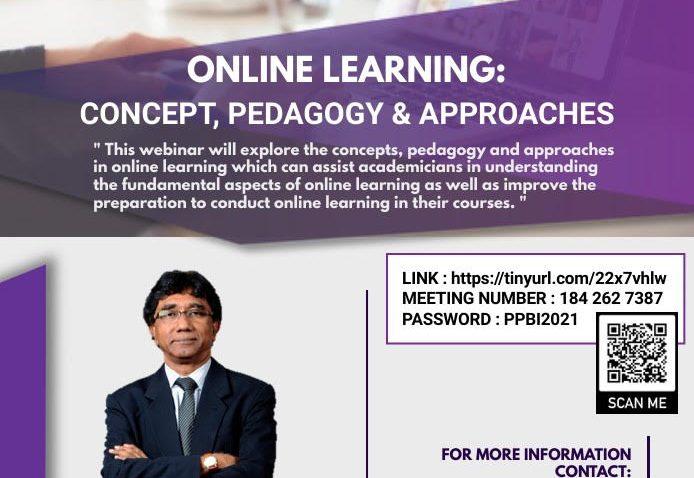 LATIHAN PENGAJARAN DAN PEMBELAJARAN : 'ONLINE LEARNING : CONCEPT, PEDAGOGY AND APPROCHES' @ Universiti Malaysia Terengganu