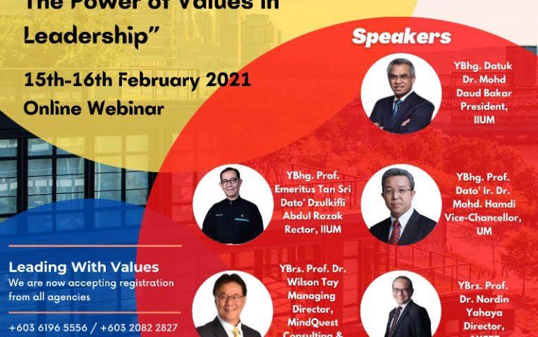 "SEMINAR ATAS TALIAN : ""LEADERS OF CHANGE: THE POWER OF VALUES IN LEADERSHIP @ Universiti Malaysia Terengganu"