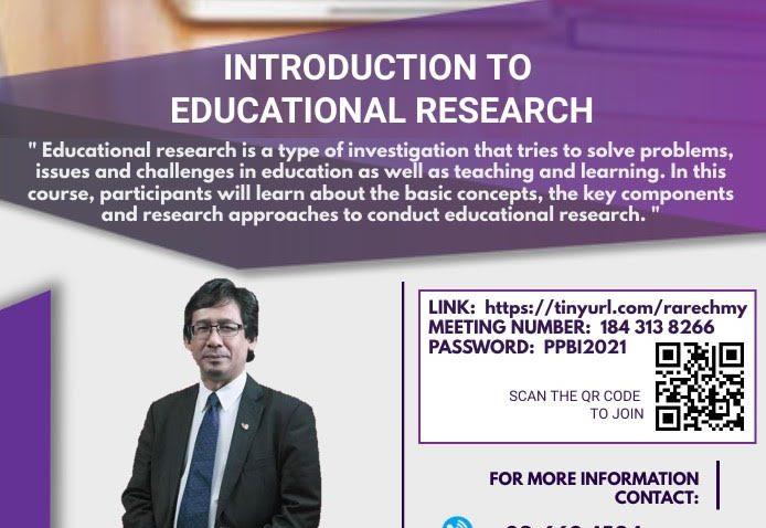LATIHAN PENGAJARAN DAN PEMBELAJARAN : 'INTRODUCTION TO EDUCATIONAL RESEARCH' @ Universiti Malaysia Terengganu