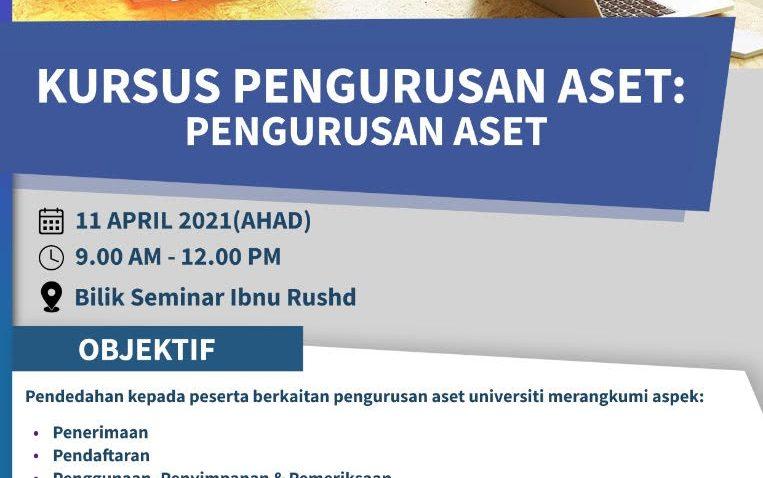 KURSUS PENGURUSAN ASET: (PENGURUSAN ASET) @ Universiti Malaysia Terengganu
