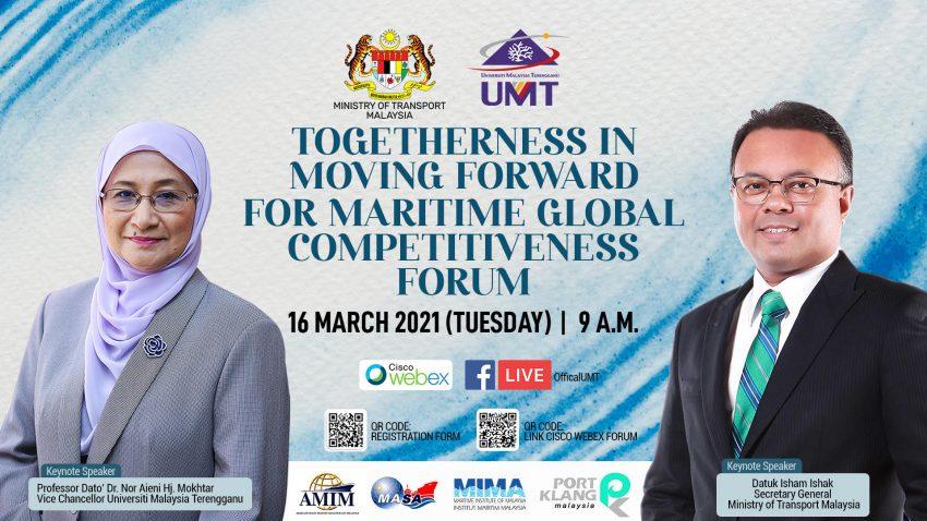 "PROGRAM FORUM DALAM TALIAN: ""TOGETHERNESS IN MOVING FORWARD FOR MARITIME GLOBAL COMPETITIVENESS"" @ Universiti Malaysia Terengganu"